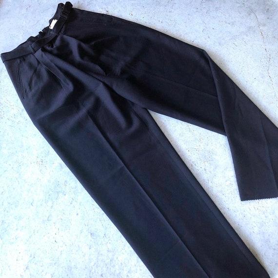 1940s RARE Navy Wool Slacks - Vintage 40s Deadstoc