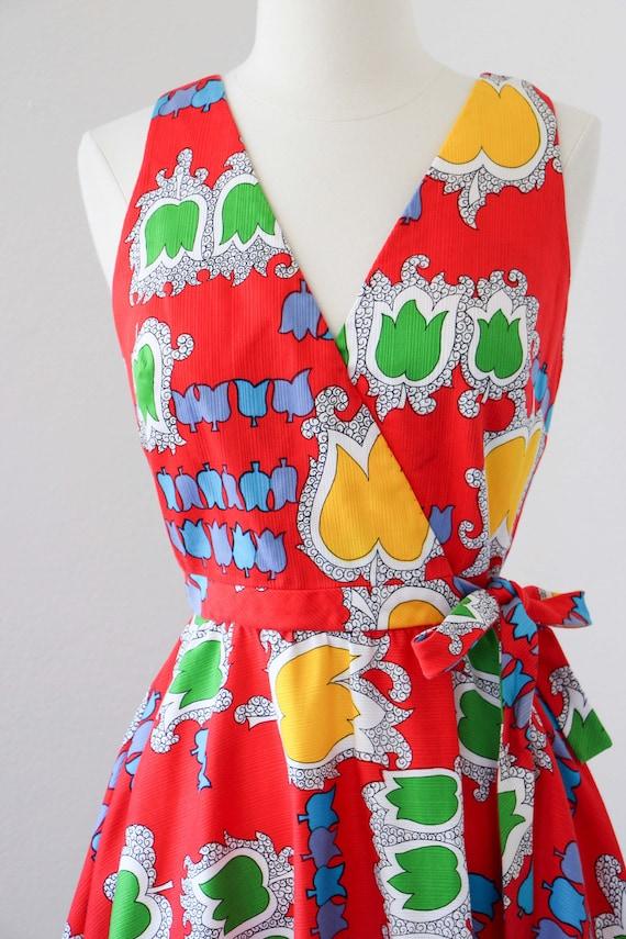 1970s Dress - Vintage 70s Dress - Jaunty Rainbow … - image 5
