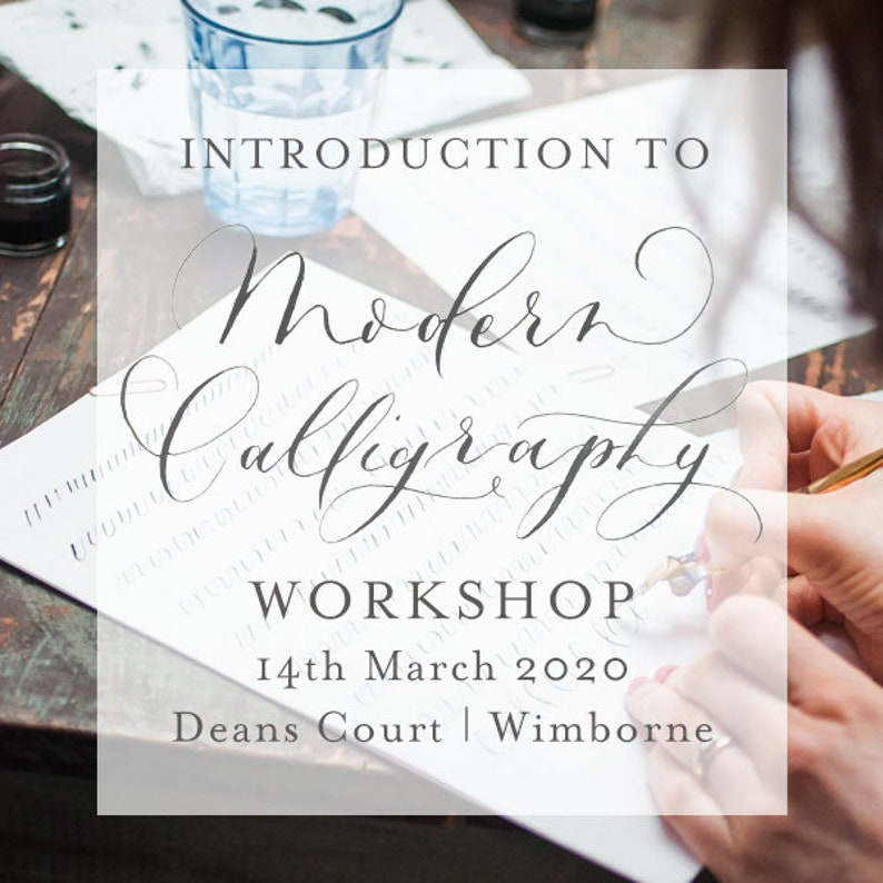 Modern Calligraphy Workshop 14th March 2020  10am-12:30pm  image 0