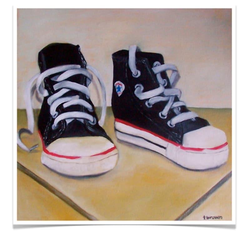 sneakers. fine art print. converse. chuck taylors. high tops. image 0