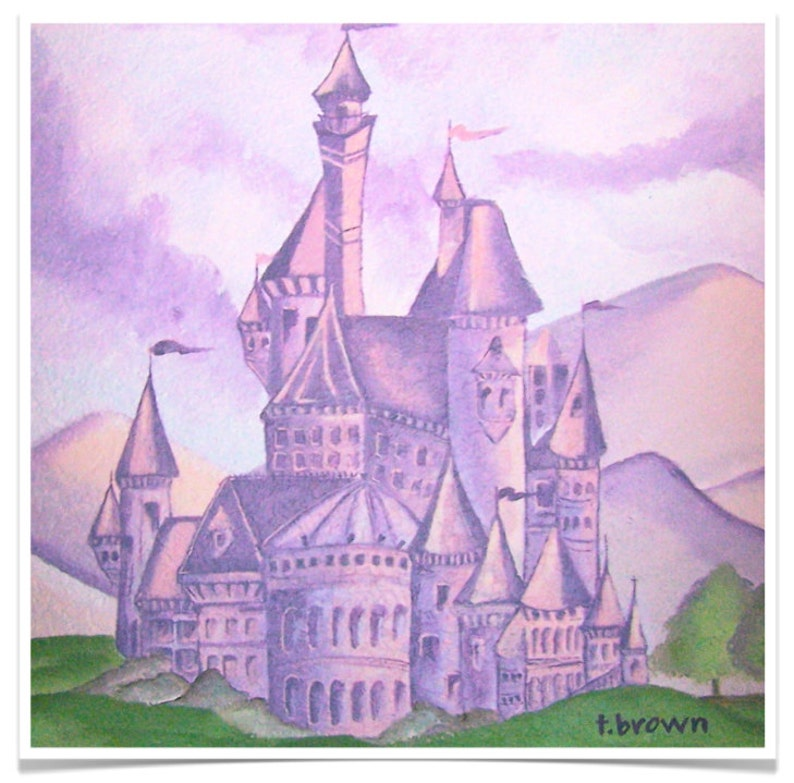 princess castle. fine art print. fantasy. little girl. kids image 0