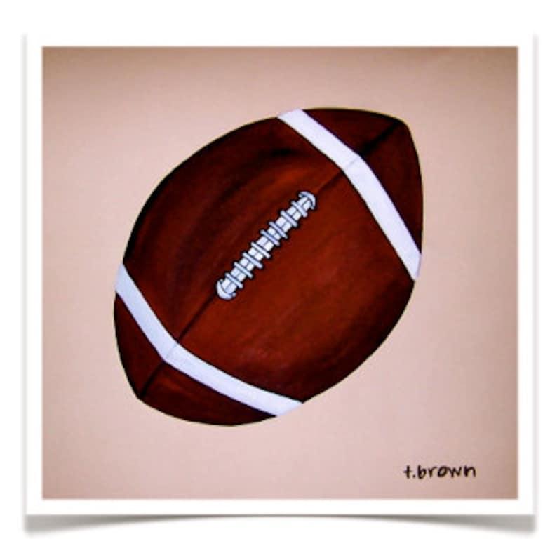 football. fine art print. original art. home decor. kids room. image 0