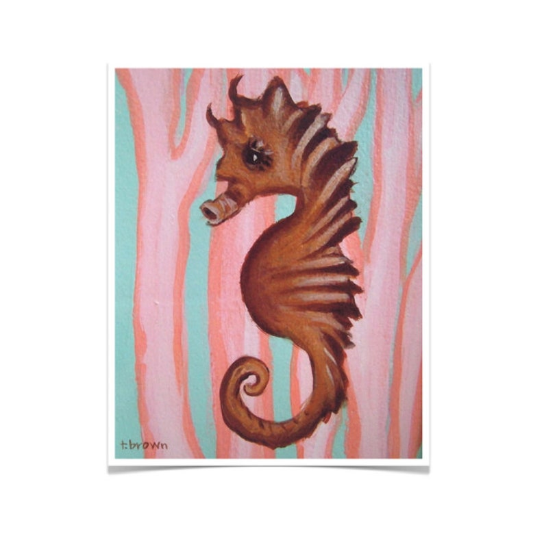 seahorse. fine art print. under the sea. ocean. underwater. image 0