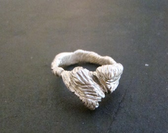 Heartbroken - Jagged Heart Ring with rough-looking  in the shape of a heart