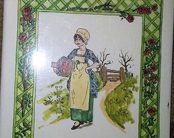 Huge Vintage Kate Greenaway Coloring Book Red Farm Studios   Etsy