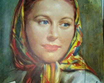 Vintage Foster Portraits in Oil Art Book