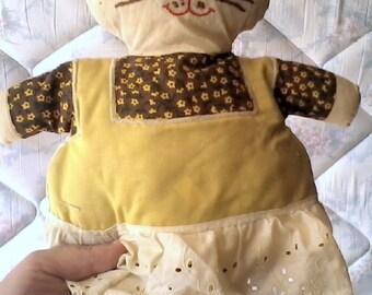 Sale-Vintage Handmade Cat Stuffed Animal