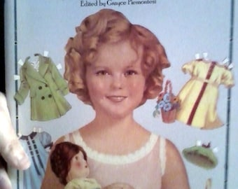 Sale-1986   Dover Shirley Temple Big Paper doll- Uncut