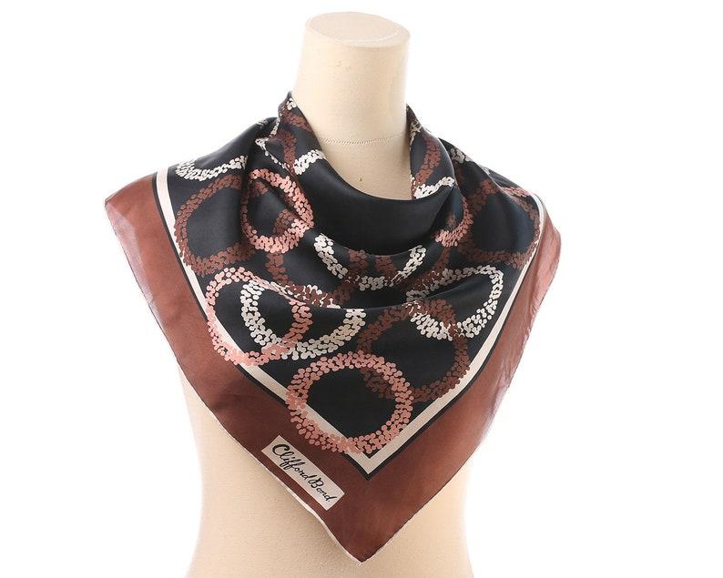 4f4614e4ec2 Foulard en soie design vintage des années 60 cercles abstraits