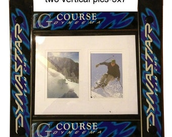 CUSTOMIZE your own SINGLE 11x14 Ski Frame made in Vermont and handcrafted out of Recycled Skis makes a ski gift for skiers