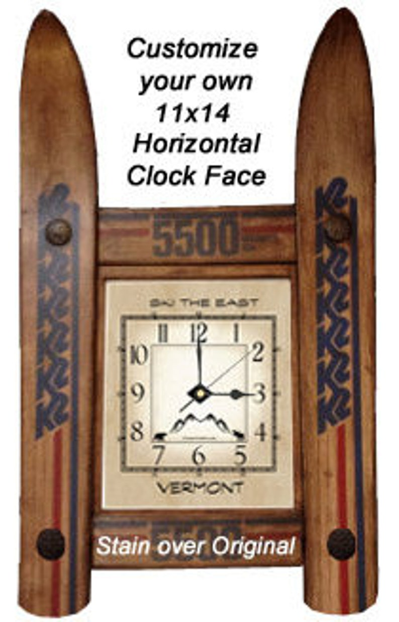 CUSTOMIZE your own Ski Clock made in Vermont and handcrafted image 0