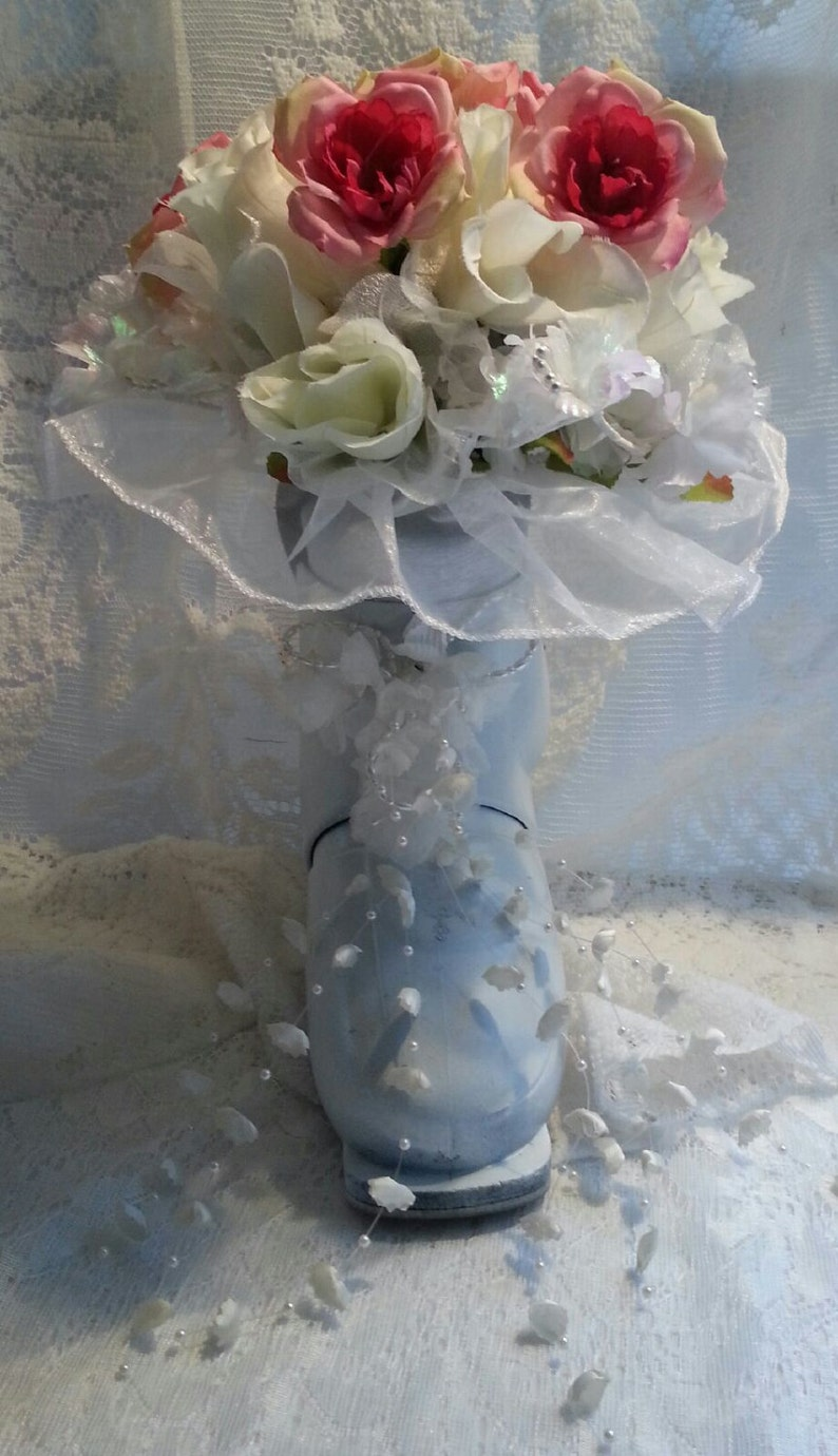 3 Ski Boot Wedding Bouquets Made in Vermont and handcrafted image 0