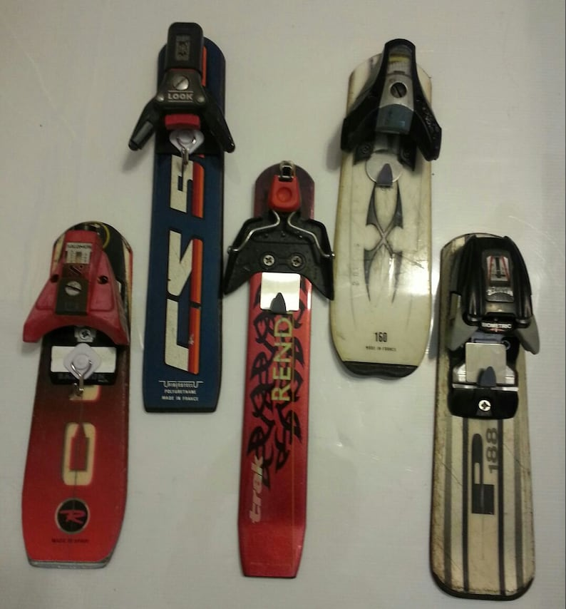 Key Holder made from recycled ski tail makes is a great ski image 0