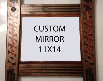 CUSTOMIZE your own Ski Mirror made in Vermont and handcrafted out of Recycled Skis makes a ski gift for skiers