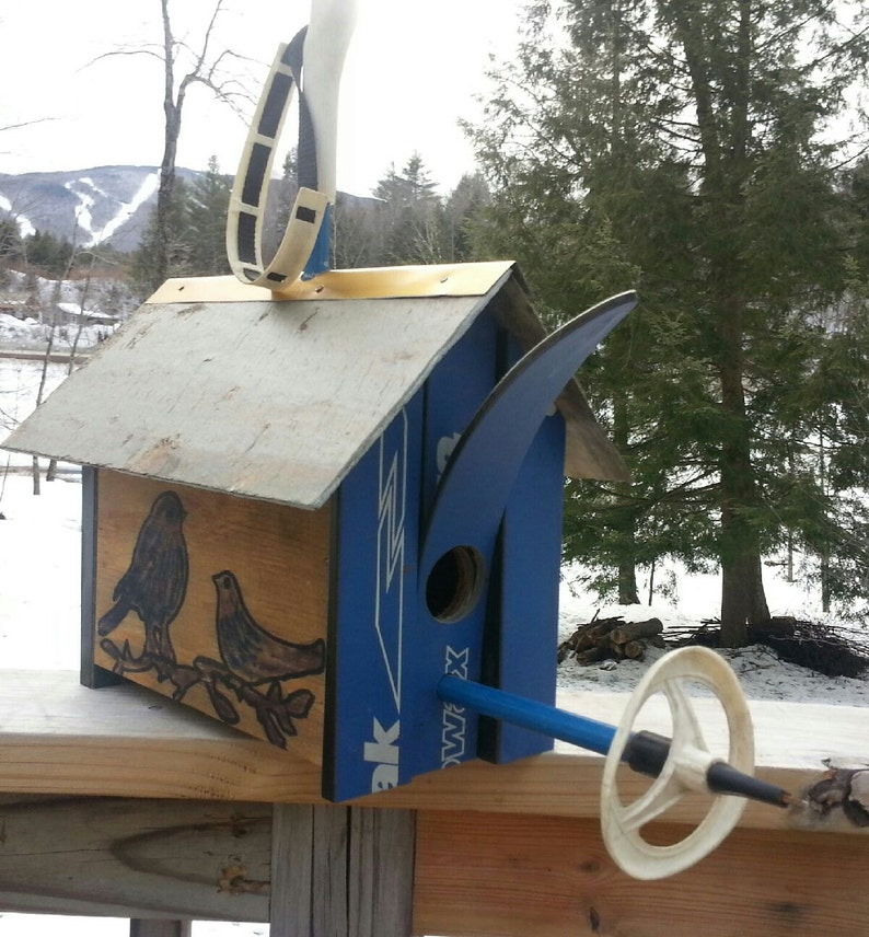 CUSTOM Ski Birdhouse Made in Vermont and handcrafted out of a image 0