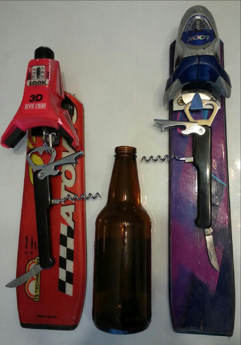 Bottle Opener Hanger made from recycled ski tail makes is a image 0