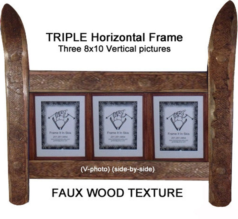 CUSTOMIZE your TRIPLE Ski Frame made in Vermont and image 0