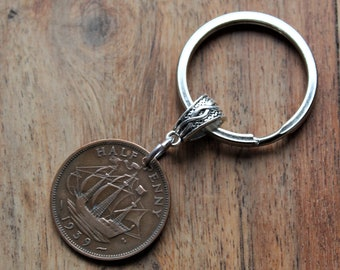 80th Birthday Gift For A Man 1939 Gifts Men Coin Keyring