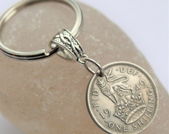 70th Birthday Gift For Men 1949 A Man Coin Keyring Keychain