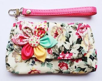 SALE Buy 3 Get 1 FREE-Rose Cotton Wristlet