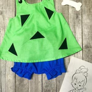 Flintstones Pebbles Halloween Costume Set Boutique PAGEANT 03M 36M 69m 1218m 24m2t 3t4t 56