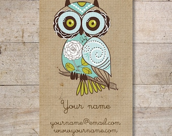 Owl business card etsy business cards custom business cards jewelry cards earring cards display cards retro owl no120 colourmoves