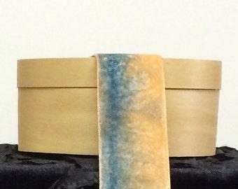 CHOKER NECKLACE RIBBON, Silk Ribbon, Silk Velvet Ribbon, French Ribbon, Ribbon, Orange Velvet, Jewelry Ribbon, The Fiber Goddess