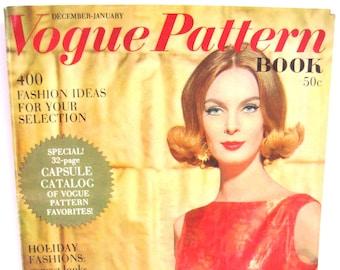 VOGUE PATTERN Book, Dec-Jan 1962, Holiday, Dress Plus, Sunshine