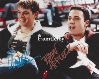 "Genuine Signed Matt DAMON & Ben AFFLECK, Color 8"" x 10"" Photo, Autograph, COA"