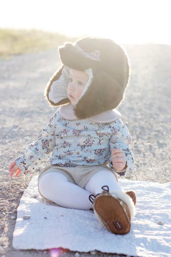 Arctic Trapper Hat Pdf Pattern Kids Size 18m To 8 Etsy
