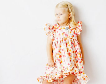 the DAYDREAM ruffle dress pdf pattern size 18M to 8