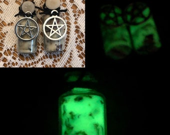 Herbal and floral spell jar pendant choose ONE love courage strength and more
