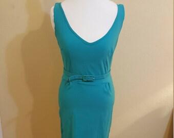 Retro Style Teal Wiggle Dress Size XL