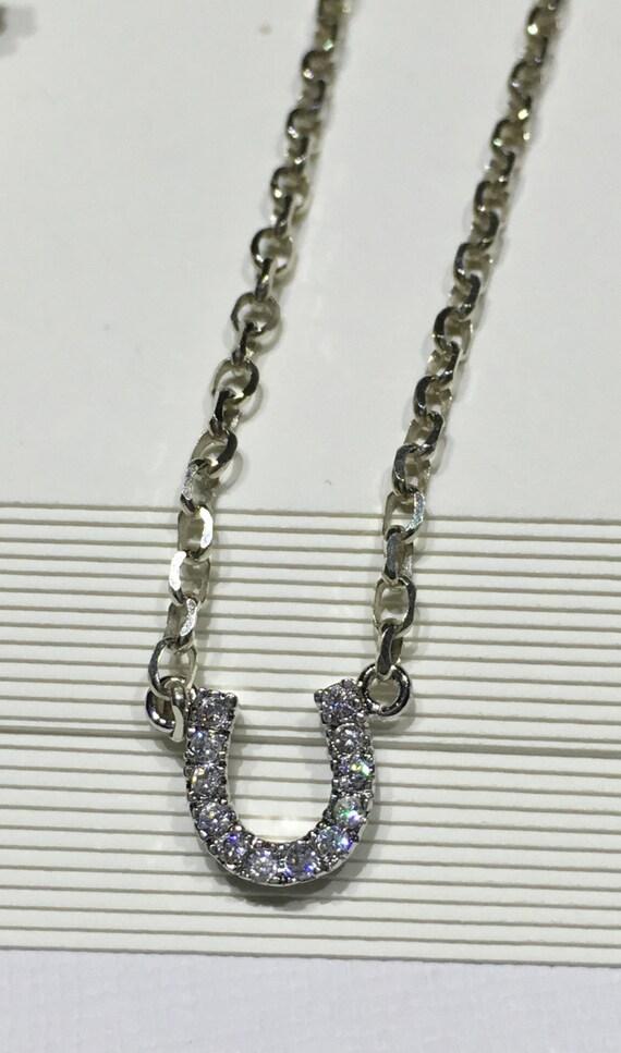 rhodium plaqu/é Argent/é Cheval Pendentif//collier/ /Emball/é dans une bo/îte