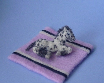 RESERVED for Monetteaug2 /Small needle felted appaloosa horse / foal