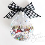 Central Park Carriage NYC Glitter Christmas Ornament / New York City Ornament, Christmas in NYC, Central Park, NYC Souvenir, New York Winter