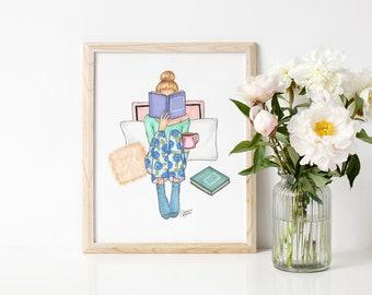 Tutu Trio Fashion Illustration Art Print   Ballerina Fashion Illustration by Joanna Baker