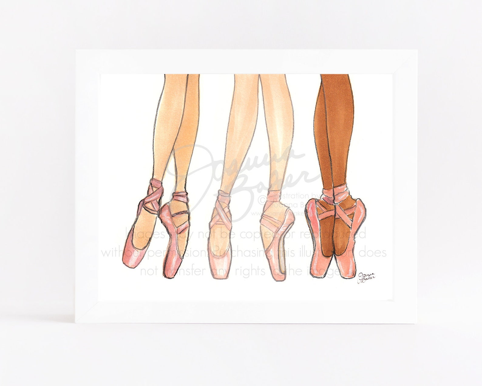 ballet trio illustration art print / ballerina art print, dancer art print, fashion art print, fashion sketch, pointe shoe wall