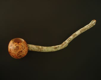 UNMITIGATED GALL wooden spoon hand carved by Spoontaneous, wood spoon, wood carving, art spoons, kitchen, sculptural spoon