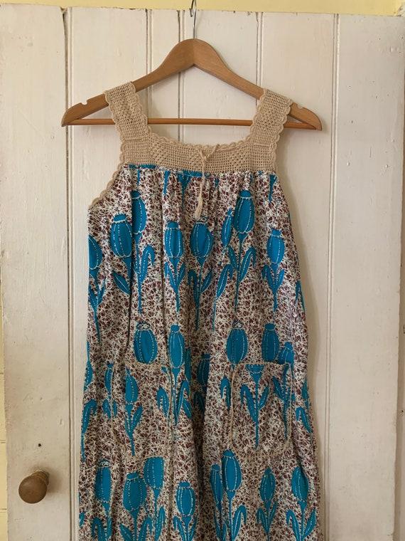 1970's African print dress