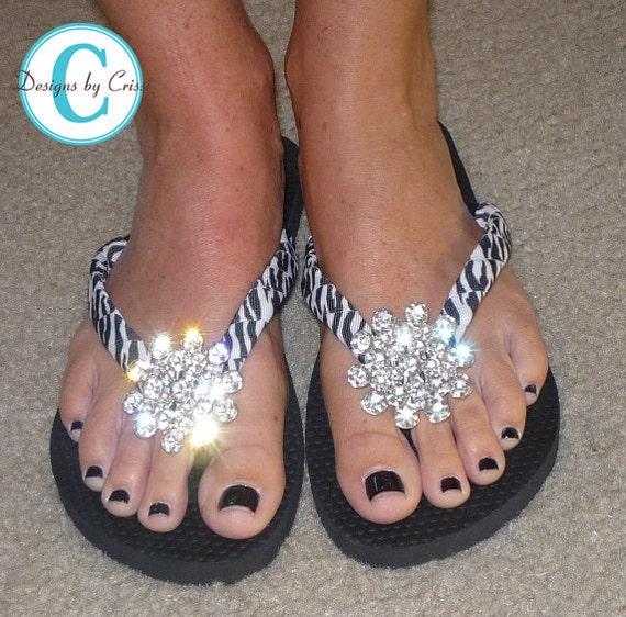 sur bijoux Bling noirs ou avec Zebra n Strass tongs mat sandales nq4fOO
