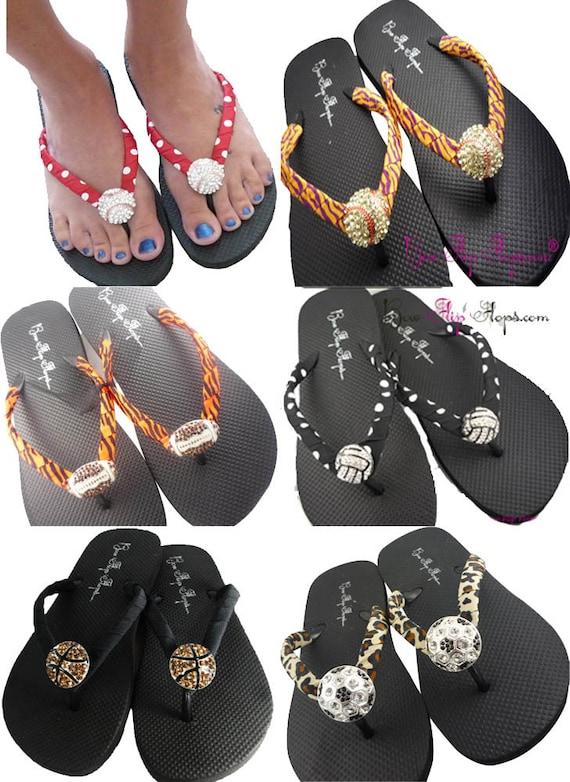 ribbon Shoes or Flops Green Baseball Baseball Rhinestone Player Choose Neon Softball Bling Mom Girl Flip Sandals SZw04vq