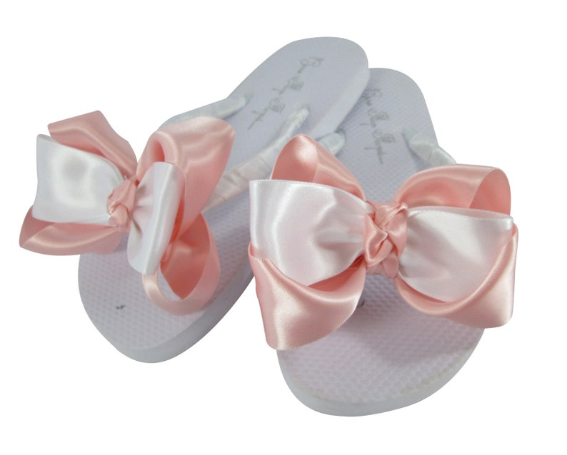 8f56619ee Flower Girl or Bridesmaid Flip Flops with Big Cute Satin