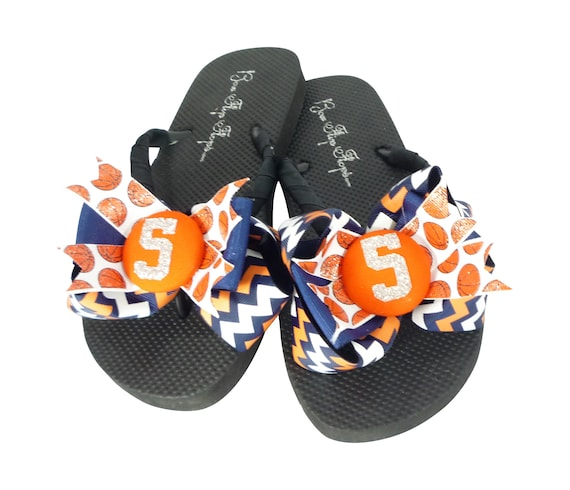 Blue All Basketball match Mom Chevron colors colors Girls Glitter sizes Number team any Flip Orange Flops White with to Bows UYazYwrq
