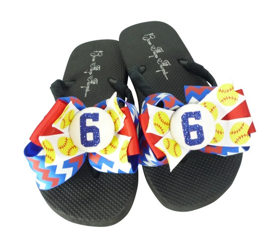 Mom Basketball to Number White team Girls any colors Bows Flops All match Blue Orange Chevron Glitter Flip sizes with colors r8qrU7