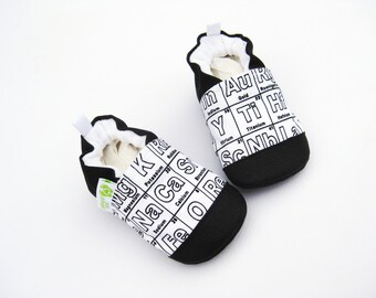 Periodic table shoes etsy classic vegan periodic table of elements non slip soft sole baby shoes made to order babies toddler preschool urtaz Choice Image