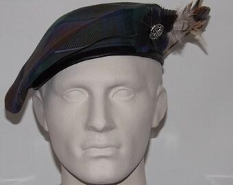 fd056205f66 Men s Isle of Skye Tartan Beret with Feather Plume
