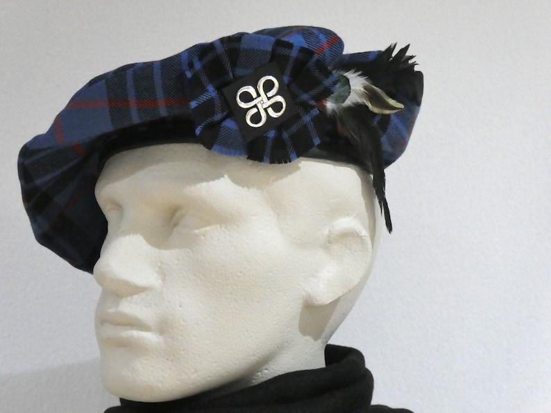 Men/'s Scottish Beret in Morgan Ancient Tartan