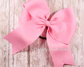 Double Loop Cheer Bow, Softball Bow, Long Tail Bow, Girls Bow, Hair Bow, Toddler Bow, Large Bow
