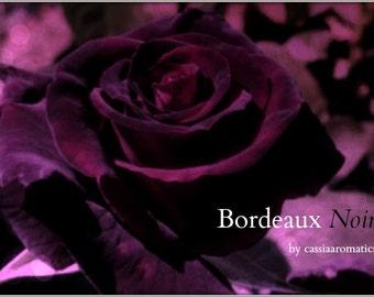 Bordeaux Noir Oil Perfume Fruity Rose Deep Burgundy French Cassis